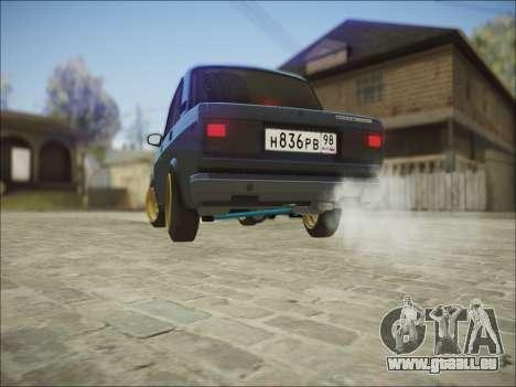 VAZ 2107 Black Jack pour GTA San Andreas sur la vue arrière gauche