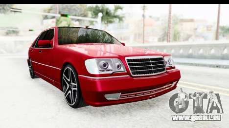 Mercedes-Benz W140 S600 AMG pour GTA San Andreas