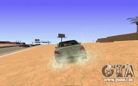 Mercedes-Benz C250 Armenian pour GTA San Andreas sur la vue arrière gauche