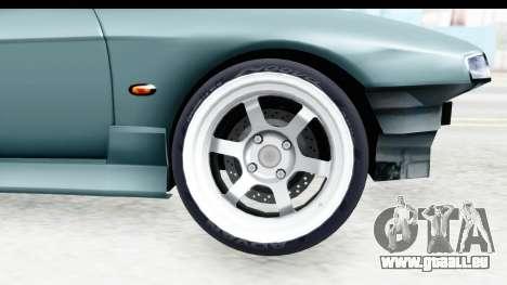 Nissan Silvia S14 Low and Slow für GTA San Andreas Rückansicht