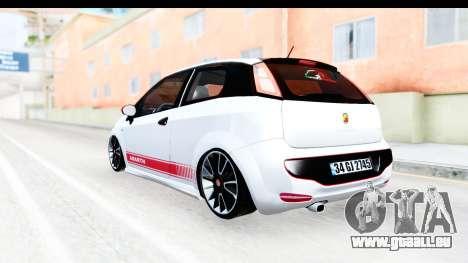 Fiat Punto Abarth pour GTA San Andreas vue de droite