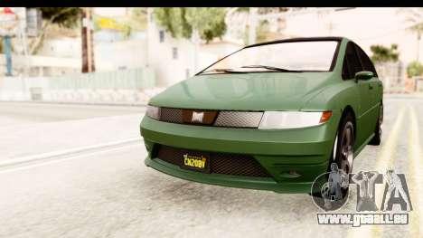 GTA 5 (4) Dinka Perennial pour GTA San Andreas sur la vue arrière gauche