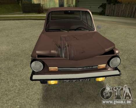 ZAZ 968M Arménie pour GTA San Andreas vue de dessus