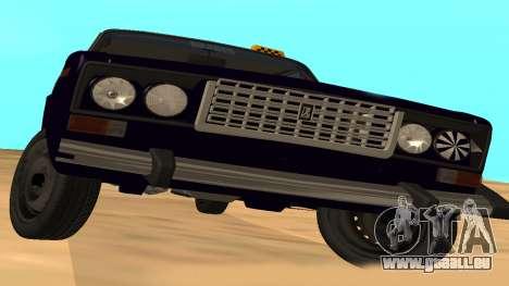 VAZ-2106 de GVR de la première version pour GTA San Andreas vue arrière