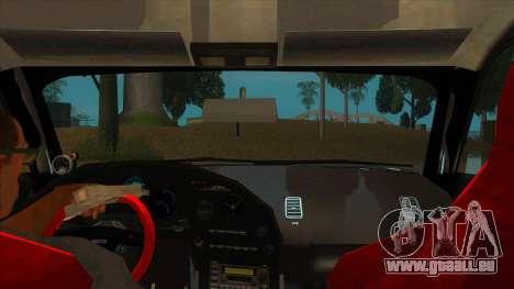 Toyota Supra Tunable pour GTA San Andreas vue intérieure