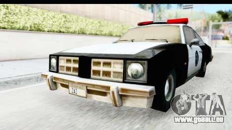 Pontiac Ventura LSPD from Silent Hill 2 pour GTA San Andreas vue de droite