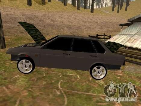 VAZ 21099 Classique pour GTA San Andreas sur la vue arrière gauche