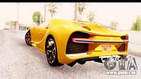 Bugatti Chiron 2017 v2.0 Updated pour GTA San Andreas laissé vue