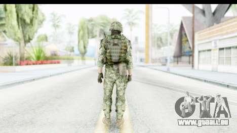 Croatian Soldier pour GTA San Andreas troisième écran