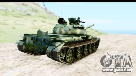T-62 Wood Camo v3 pour GTA San Andreas sur la vue arrière gauche