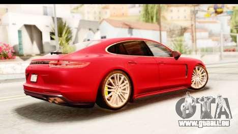 Porsche Panamera 4S 2017 v5 pour GTA San Andreas laissé vue