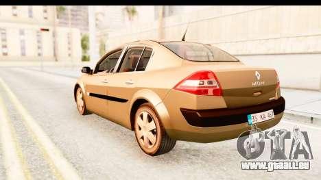 Renault Megane 2 Sedan 2003 pour GTA San Andreas laissé vue