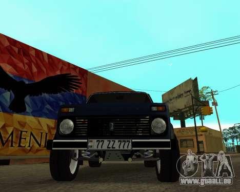 Niva 2121 Armenian für GTA San Andreas Innen