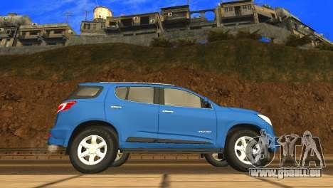 Chevrolet TrailBlazer 2015 LTZ pour GTA San Andreas sur la vue arrière gauche