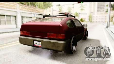 Blistac Tio Sam pour GTA San Andreas sur la vue arrière gauche