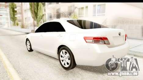 Toyota Camry GL 2011 pour GTA San Andreas laissé vue