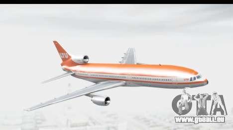 Lockheed L-1011-100 TriStar LTU für GTA San Andreas zurück linke Ansicht