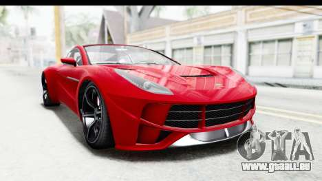 GTA 5 Dewbauchee Seven 70 IVF für GTA San Andreas rechten Ansicht