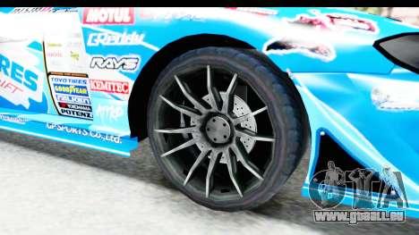 Nissan Silvia S15 D1GP Blue Toyo Tires für GTA San Andreas Rückansicht