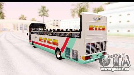 Bus Tours Dic Megadic 4x2 ETCE für GTA San Andreas linke Ansicht