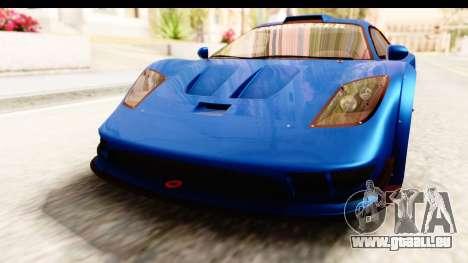 GTA 5 Progen Tyrus IVF pour GTA San Andreas vue de dessus