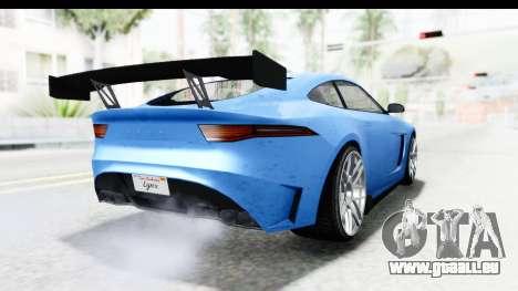 GTA 5 Ocelot Lynx IVF PJ für GTA San Andreas zurück linke Ansicht