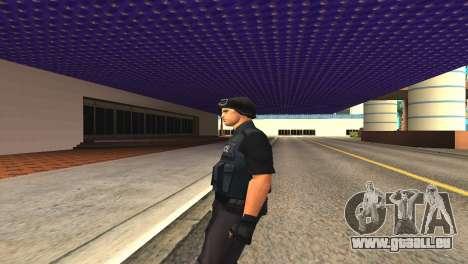 Original SWAT de la peau sans masque pour GTA San Andreas quatrième écran