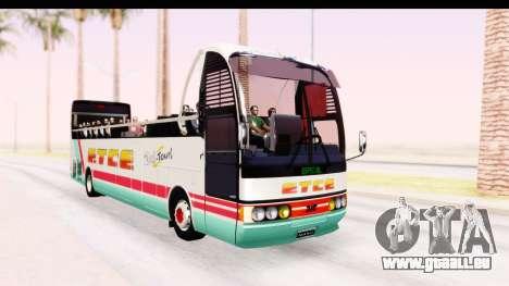 Bus Tours Dic Megadic 4x2 ETCE pour GTA San Andreas vue de droite