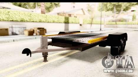 Dacia Duster Pickup Trailer für GTA San Andreas rechten Ansicht