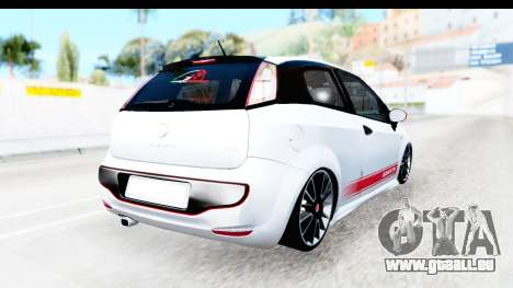 Fiat Punto Abarth pour GTA San Andreas sur la vue arrière gauche