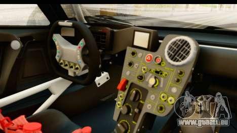 Scuderia Glickenhaus SCG 003C für GTA San Andreas Innenansicht