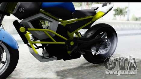 Yamaha Cage Sic pour GTA San Andreas vue arrière