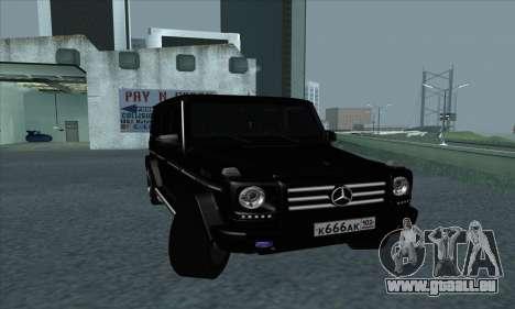 Mercedes-Benz G55 pour GTA San Andreas laissé vue