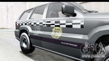 GTA 5 Canis Seminole Taxi pour GTA San Andreas vue arrière