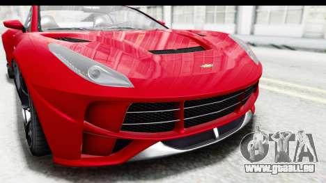 GTA 5 Dewbauchee Seven 70 IVF pour GTA San Andreas vue de dessus