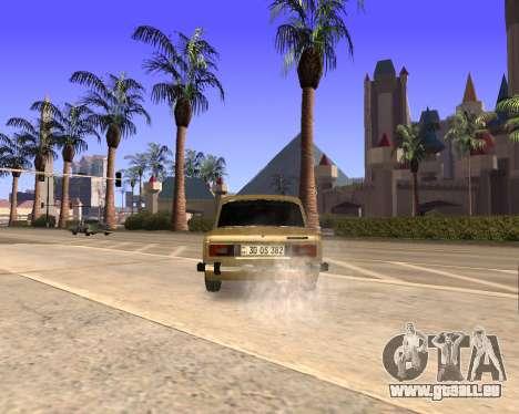 VAZ 2106 Armenian für GTA San Andreas Unteransicht