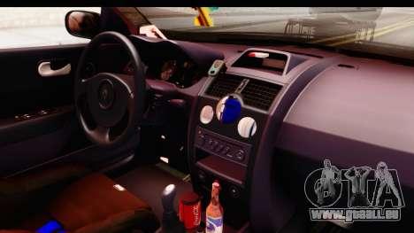 Renault Megane Spyder Full Tuning v2 pour GTA San Andreas vue de côté
