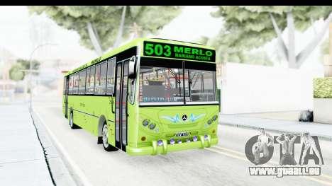 Bus La Favorita Ecotrans für GTA San Andreas zurück linke Ansicht