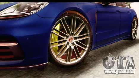 Porsche Panamera 4S 2017 v4 pour GTA San Andreas vue arrière