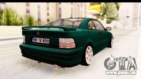 Rover 220 pour GTA San Andreas laissé vue