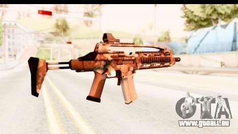 SCAR-LK Hex Camo Tan pour GTA San Andreas deuxième écran
