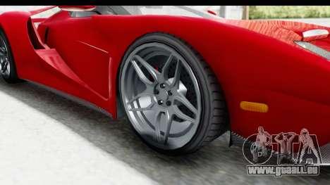 GTA 5 Vapid Bullet Face FMJ für GTA San Andreas Rückansicht