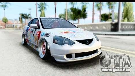 Acura RSX Type S 2002 Nisekoi Itasha für GTA San Andreas zurück linke Ansicht