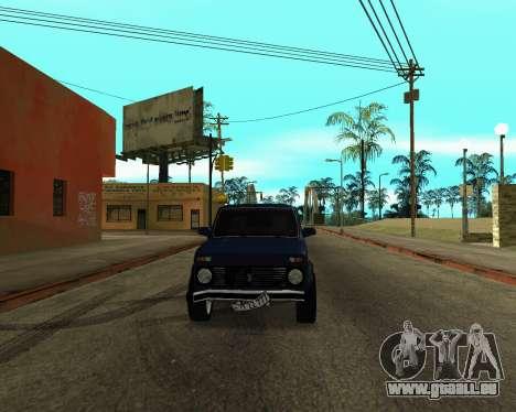 Niva 2121 Armenian pour GTA San Andreas sur la vue arrière gauche