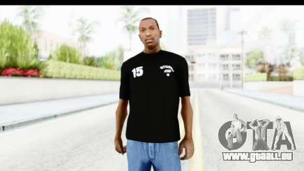 Stussy Black T-Shirt pour GTA San Andreas