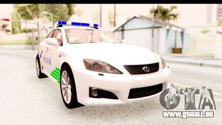 Lexus IS F PDRM für GTA San Andreas