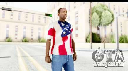 T-Shirt USA Flag für GTA San Andreas