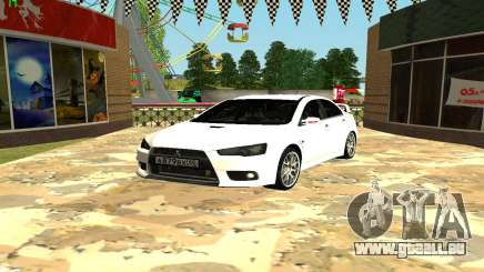 Mitsubishi Lancer X GVR pour GTA San Andreas