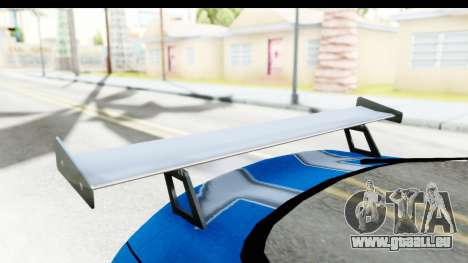 NFS: Carbon Darius Toyota Supra Updated pour GTA San Andreas vue intérieure