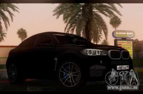 BMW X6M BULKIN ED. pour GTA San Andreas sur la vue arrière gauche